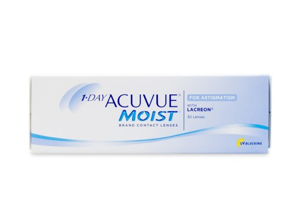 Acuvue Moist Dailies for Asigmatism 30 pack